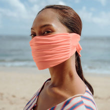 Load image into Gallery viewer, MASKANA UV50 Waterproof Gaiter Face Mask, in Peach Nectar