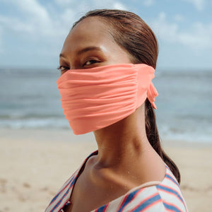 MASKANA UV50 Waterproof Gaiter Face Mask, in Peach Nectar