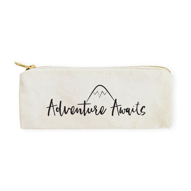 Adventure Awaits Cotton Canvas Pencil Case and Travel Pouch