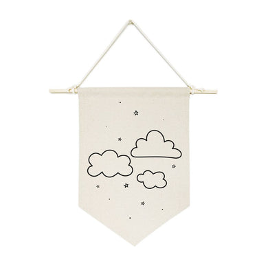 Clouds Hanging Wall Banner