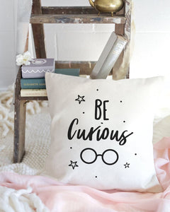 Be Curious Baby Cotton Canvas Pillow Cover
