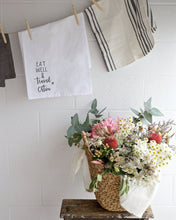 Load image into Gallery viewer, Eat Well Travel Often Kitchen Tea Towel