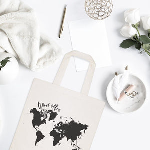 Travel Often Cotton Canvas Tote Bag