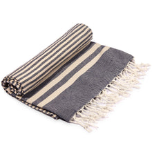 Load image into Gallery viewer, Fethiye Striped Ultra Soft Eco-Friendly Towel - Navy Blue