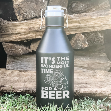 It's the Most Wonderful Time to Drink Beer Santa Growler