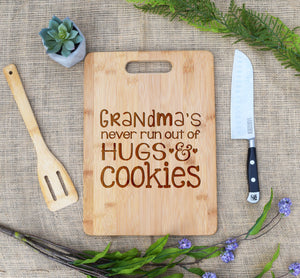 Grandma Hugs and Cookies Rectangular Board