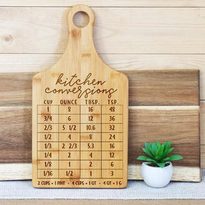 Kitchen Conversion Chart Paddle Board