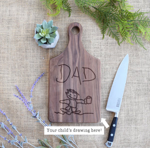 Personalized Child's Drawing Paddle Board