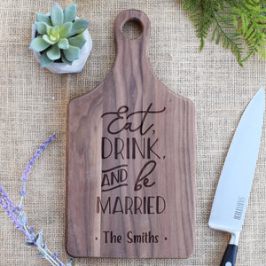 Eat Drink and Be Married Personalized Name Paddle Board
