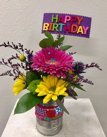 Happy Birthday! Gerbera Can