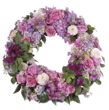 Pink and Purple Wreath