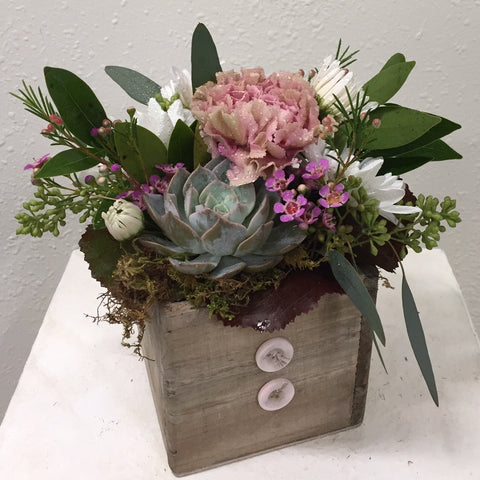 Succulent and Blooms Box
