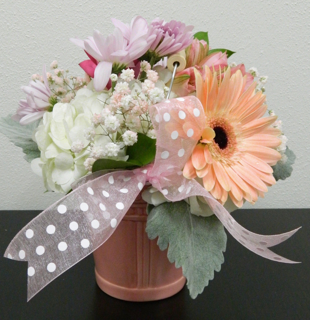 Baby Girl Pail Bouquet
