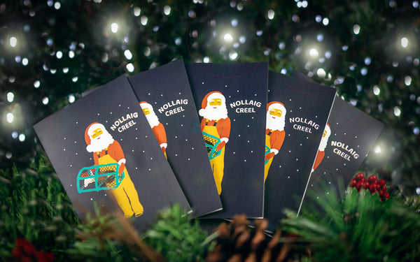 Nollaig Creel Christmas Card with Gold Foil - Sona Design