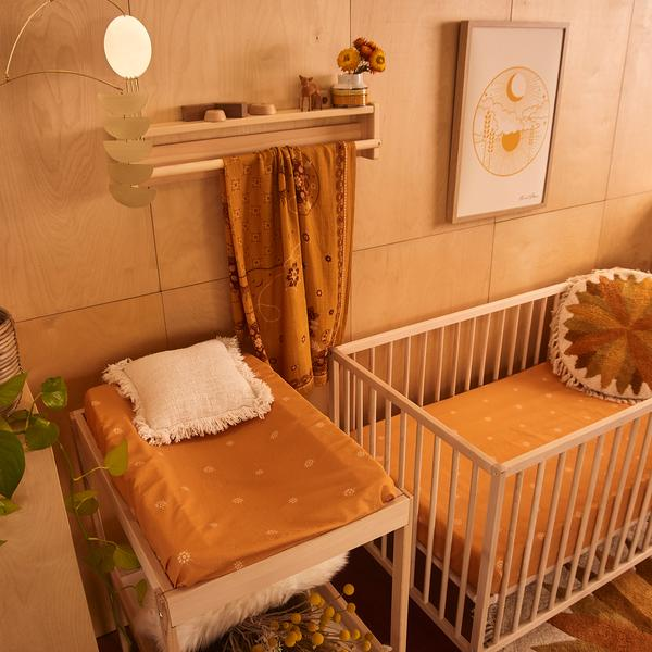 Celestial Sunshine Cot Sheet