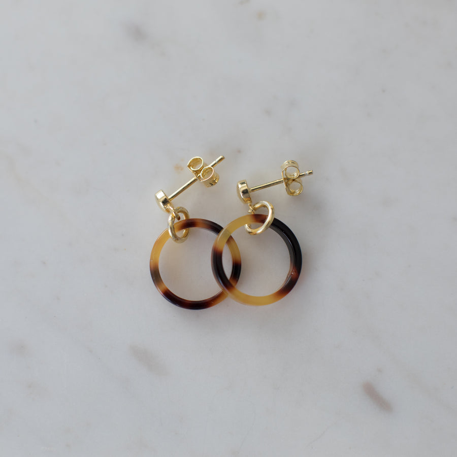 Little Tort Hoops Dark Gold