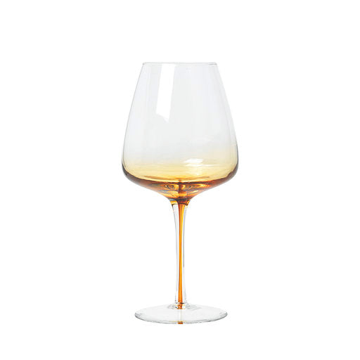 Broste Amber Red Wine Glass