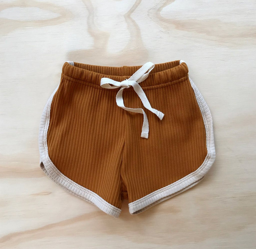 Ribbed Retro Shorts