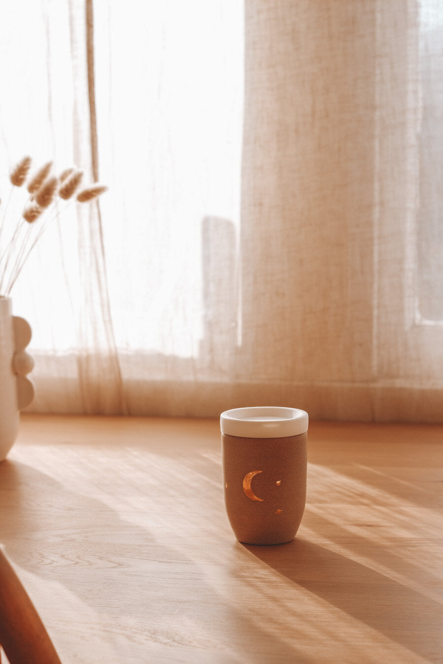 Golden Crescent Moon Travel Cup