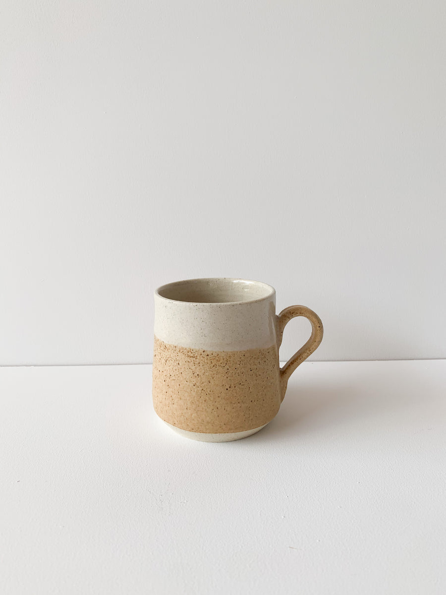 Earthy Orange Pyramid Mug