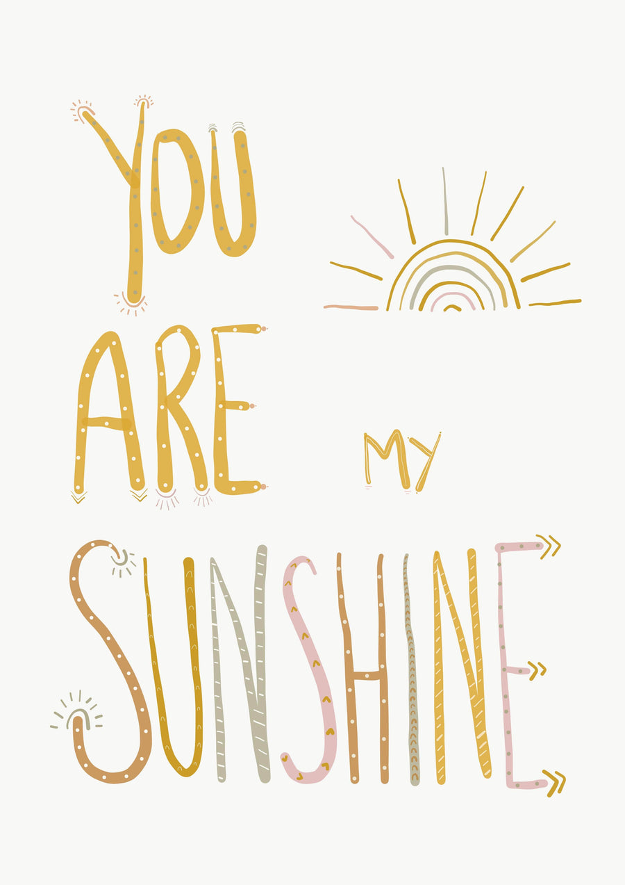 You Are My Sunshine A4