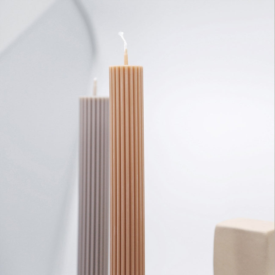 Column Pillar Candle  Beige