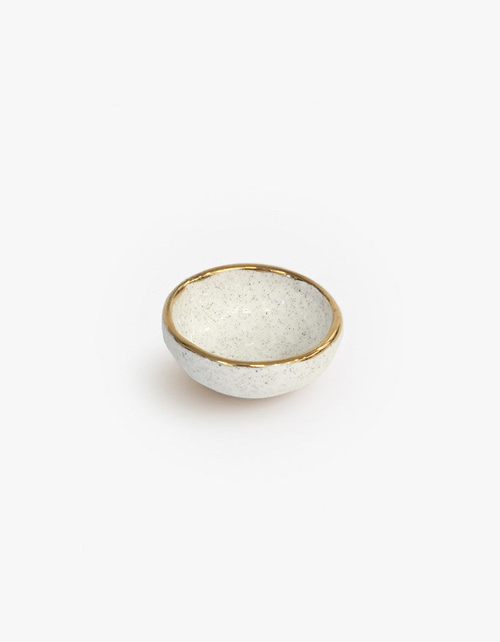 Mini Sand Ring Bowl Gold Rim