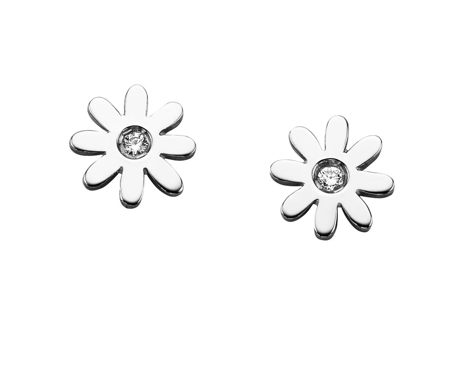 Daisy Studs with 2x70PC Diamonds STG