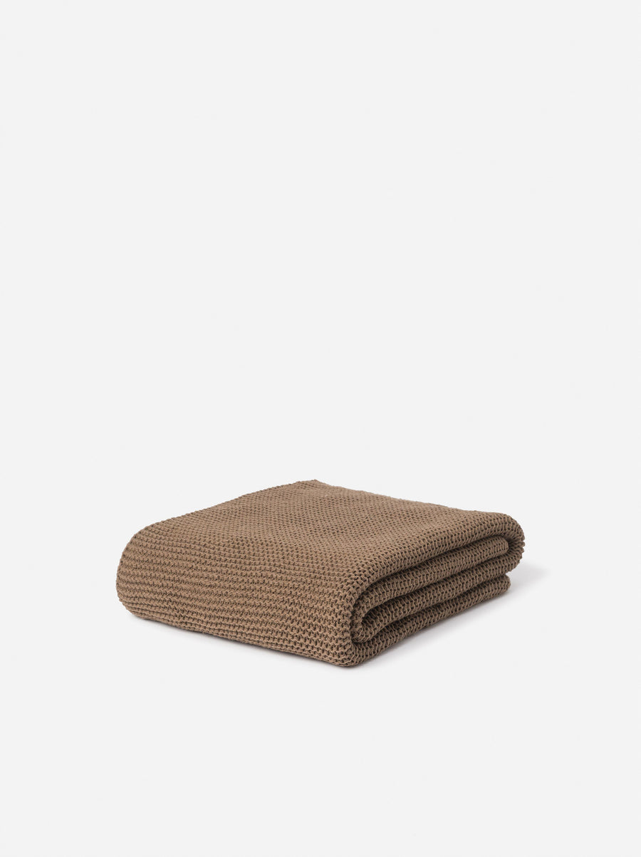 Purl Knit Cotton Throw Pickle