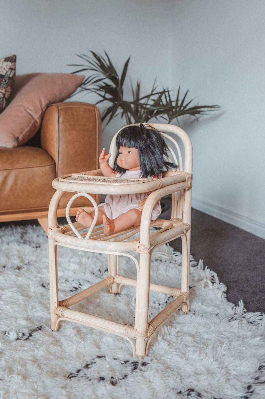 Rattan Dolls Highchair