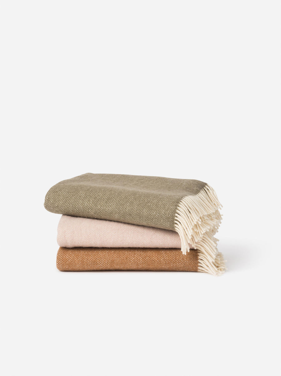 Wool Throw  Latte