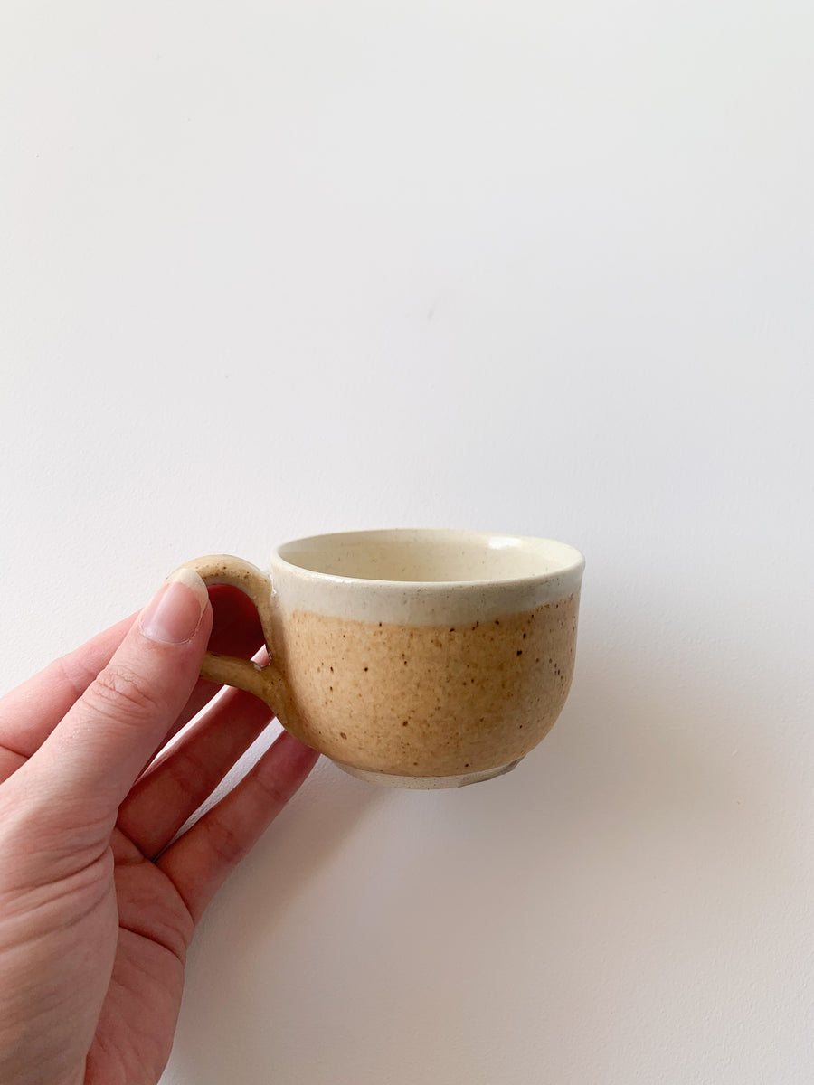 Earthy Orange Curved Espresso Cup