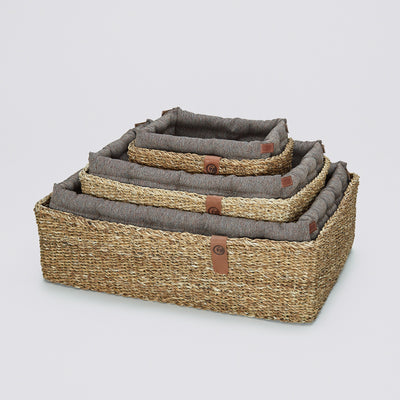 Hundebett Hideaway Herringbone Brown - nerineri