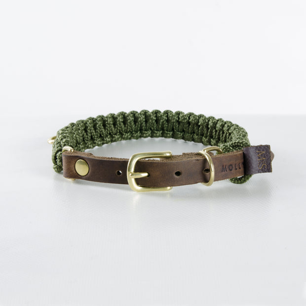 """TOUCH OF LEATHER"" HUNDEHALSBAND MILITARY"