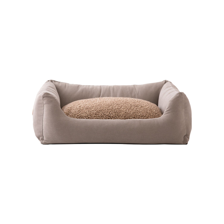 Hundebett HENRI aus Canvas | dove grey