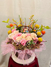 Load image into Gallery viewer, Floral Basket with Lover's Swing