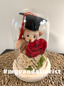 Graduation bear with Preserved Rose Gift (free delivery within Richmond)