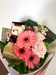 Small Graduation Bouquet with bear