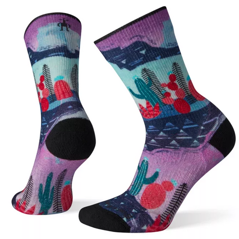 PhD Outdoor Light Print Crew Sock Women's - Smartwool - Chateau Mountain Sports