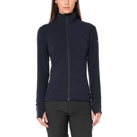 Merino Descender Long Sleeve Zip Jacket Women's - Icebreaker - Chateau Mountain Sports