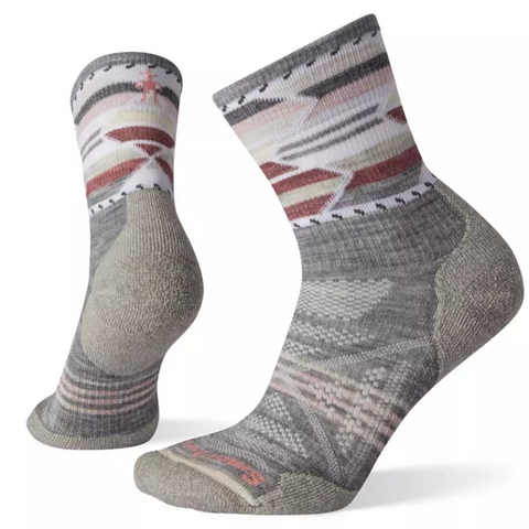 PhD Outdoor Light Pattern Hiking Mid Crew Socks - Women's - Chateau Mountain Sports