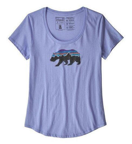 Fitz Roy Bear Organic Cotton Scoop T-Shirt - Women's - Chateau Mountain Sports