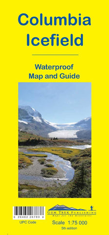 Columbia Icefield Waterproof Map - Alpine Book Peddlers - Chateau Mountain Sports