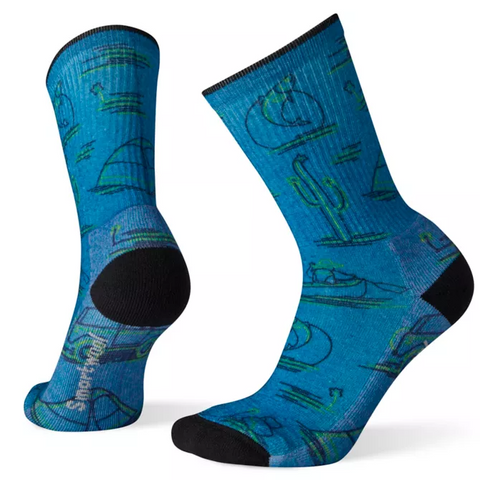 Down The River Print Light Hiking Crew Socks Women's - Smartwool - Chateau Mountain Sports