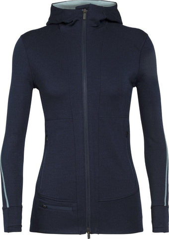 Quantum II Long Sleeve Merino Zip Hood Jacket Women's