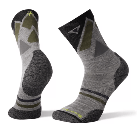 PhD Outdoor Light Pattern Hiking Crew Socks - Men's