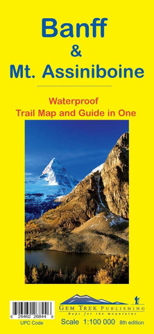 Banff/Mt Assiniboine Waterproof Map - Alpine Book Peddlers - Chateau Mountain Sports