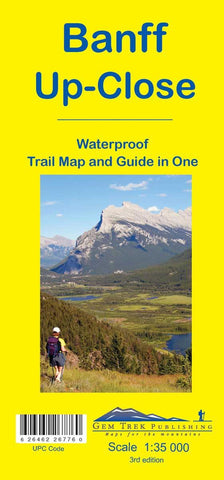 Banff Up-Close Waterproof Map - Alpine Book Peddlers - Chateau Mountain Sports