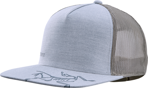 Bird Brim Flat Trucker Hat Unisex