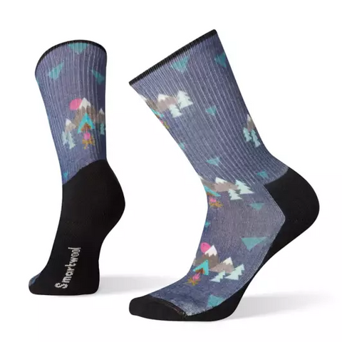 Under The Stars Print Light Hiking Crew Socks - Women's - Chateau Mountain Sports
